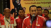 Chef de Mission (CdM) Indonesia untuk ASG 2019, Yayan Rubaeni, mengumumkan Indoensia menjadi juara umum ASEAN Schools Games 2019 (Foto Dok ASG 2019)