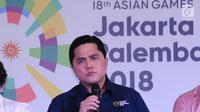 Ketua Indonesia Asian Games 2018 Organizing Committee atau INASGOC, Erick Thohir. (Liputan6.com/Helmi Fithriansyah)
