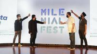 Peluncuran Talenta Juara, program beasiswa online class dan bootcamp, koleborasi MilenialFest dan Forum Rektor Indonesia (FRI). (dok. MilenialFest)