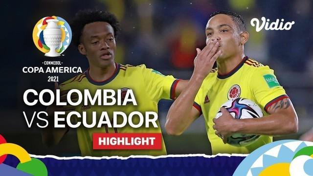 Berita video highlights Copa America 2021, Kolombia unggul tipis 1-0 atas Ekuador, Senin (14/6/21)