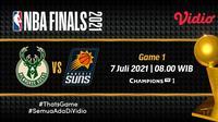 Live streaming Bucks vs Suns di final NBA 2021 dapat disaksikan melalui platform Vidio. (Dok. Vidio)