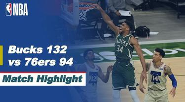 Berita Video, Milwaukee Bucks kalahkan Philadelphia 76ears 132-94, Minggu (25/4/2021)