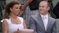 Wayne Rooney dan istrinya Coleen Rooney (AFP/Adrian Dennis)
