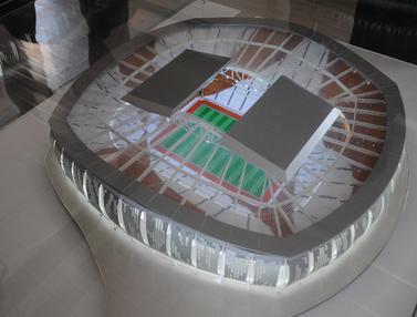 Melihat Maket Jakarta International Stadium yang Akan Dibangun