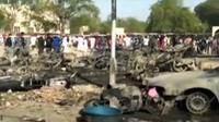 Ledakan bom di Nigeria. (Liputan 6 TV)