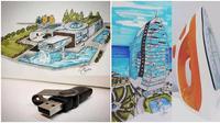 6 Foto desain bangunan yang mirip barang sehari-hari. (Sumber: Twitter/@digdially)