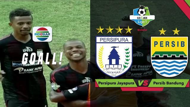 Berita video momen tembakan striker Persipura Jayapura, Hilton Moreira, yang membuat gawang Persib Bandung kebobolan dalam lanjutan Gojek Liga 1 2018 bersama Bukalapak di Stadion Mandala, Senin (15/10/2018).
