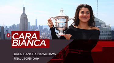 Berita video Bianca Andreescu memiliki cara istimewa untuk bisa mengalahkan Serena Williams pada final US Open 2019. Bagaimana Bianca melakukannya?