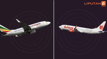 Banner Ethiopian Airlines dan Lion Air