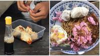 Aksi orang-orang saat makan durian ini bikin geregetan. (Sumber: YouTube/FOODWAR/Instagram/@komersial.beract)