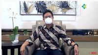 Menteri Kesehatan Budi Gunadi Sadikin saat menjadi pembicara dalam webinar Hari Puncak Pekan Menyusui Sedunia 2021 dengan tema Perlindungan Menyusui: Tanggung Jawab Bersama, Rabu (25/8/2021).