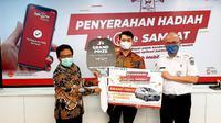 Bank DKI berikan hadiah grandprize Apresiasi Wajib Pajak Kendaraan Bermotor (dok: Bank DKI)