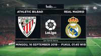 La Liga 2018-2019 Athletic Bilbao Vs Real Madrid (Bola.com/Adreanus Titus)