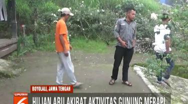 Sebelum hujan abu, warga mendengar suara gemuruh yang diduga akibat guguran material dari Puncak Merapi.