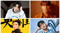 Jungkook BTS, Mingyu Seventeen, Jaehyun NCT, Cha Eun Woo Astro (Big Hit, Pledis, SM Entertainment via Soompi, Instagram/ eunwo.o_c)