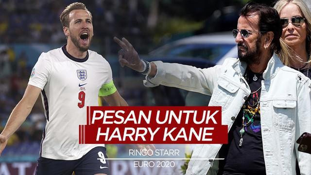 Berita Video, Pesan Ringo Starr untuk Harry Kane di Final Euro 2020