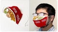 Karya Unik Seniman Jepang, Masker Mangkok dan Spons yang Bisa Dimakan. (dok.Twitter @@iine_piroshiki/https://twitter.com/iine_piroshiki/status/1282632447872528388/Henry)