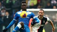 Penyerang Brescia, Mario Balotelli. (AFP/Isabella Bonotto)