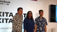 Communication Director Whatsapp, Sravanthi Dev (tengah) bersama dengan dua pengguna WhatsApp for Business di Indonesia. (Liputan6.com/ Agustin Setyo W).