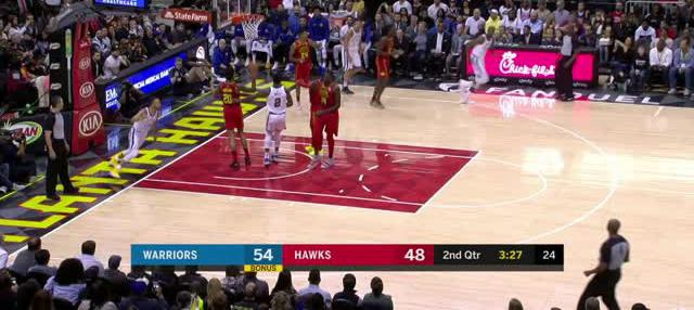 Berita video game recap NBA 2017-2018 antara Golden State Warriors melawan Atalanta Hawks dengan skor 114-109.