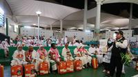 Jemaah haji Indonesia di Bandara King Abdulaziz, Jeddah. Darmawan/MCH