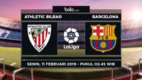 Jadwal La Liga 2018-2019 pekan ke-23, Athletic Bilbao vs Barcelona. (Bola.com/Dody Iryawan)