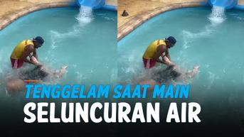 VIDEO: Tenggelam Saat Main Seluncuran Air, Untung ada Lifeguard