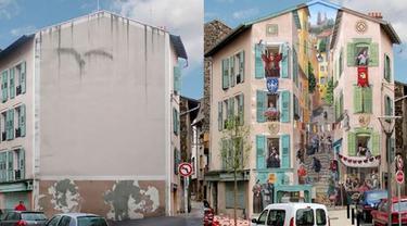 Seniman Ini Ubah Gedung Polos Jadi Lebih Menarik, 6 Hasilnya Bikin Takjub