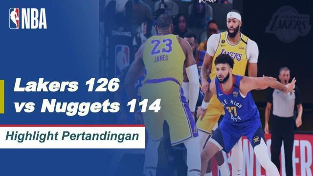 Berita video highlights NBA gim pertama final wilayah barat musim 2019/2020 antara Los Angeles Lakers melawan Denver Nuggets pada Sabtu (19/9/2020) pagi hari WIB.