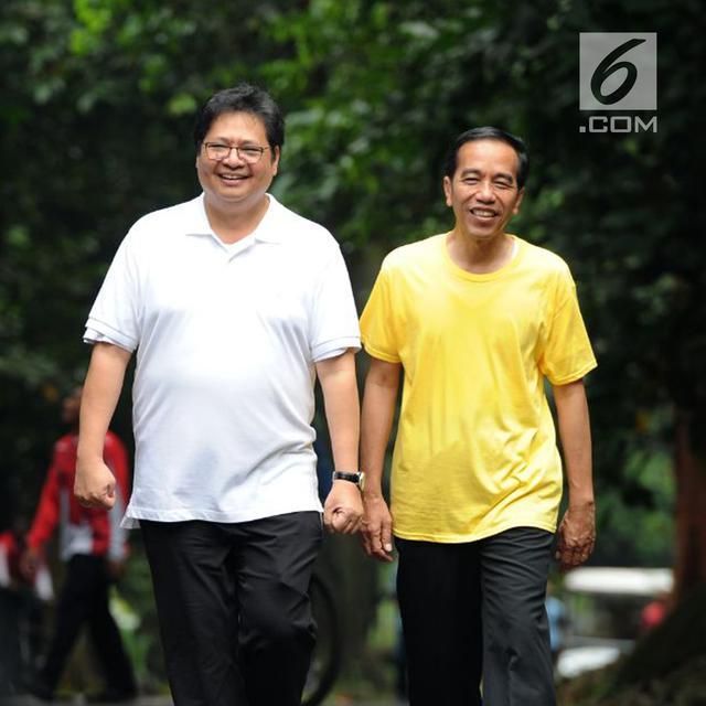 Lobi Politik Airlangga Jokowi Di Kebun Raya Pilpres Liputan6 Com