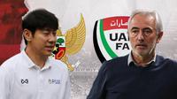 Indonesia vs Uni Emirat Arab: Shin Tae-yong Vs Bert van Marwijk. (Bola.com/Dody Iryawan)