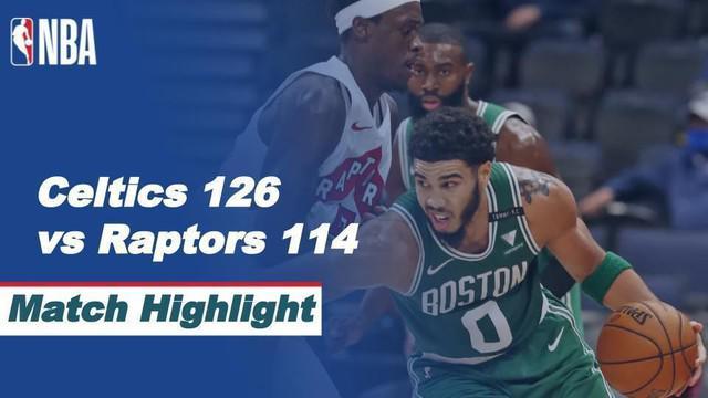 Berita Video Highlights NBA, Boston Celtics Kalahkan Toronto Raptors 126-114