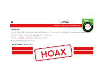 Cek Fakta Coca-Cola mengadakan program survei berhadiah