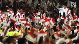 Cawapres nomor urut 01Ma'ruf Aminsaat menghadiri Konvensi Rakyat di Sentul Internasional Convention Center, Bogor, Jawa Barat, Minggu (24/2). Konvensi Rakyat mengangkat optimis Indonesia maju. (Liputan6.com/Herman Zakharia)