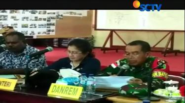 Panglima TNI Marsekal Hadi Tjahjanto, memberangkatkan satgas kesehatan ke Asmat, Papua.