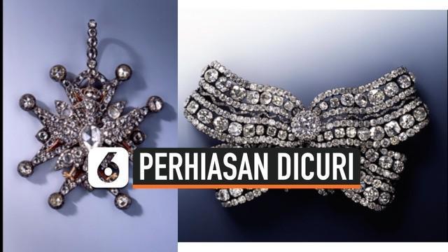 Kejadian nahas menimpa sebuah museum di Jerman. Tiga set perhiasan antik yang terbuat dari permata hilang dicuri diduga oleh 2 orang.
