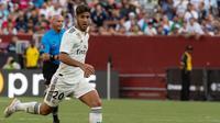 Asensio sudah melakoni 34 laga namun hanya menciptakan enam gol saja. Liverpool dan Tottenham Hotspur dikabarkan tertarik menggaet sang pemain pada transfer musim panas nanti. (AFP/Nicholas Kamm)
