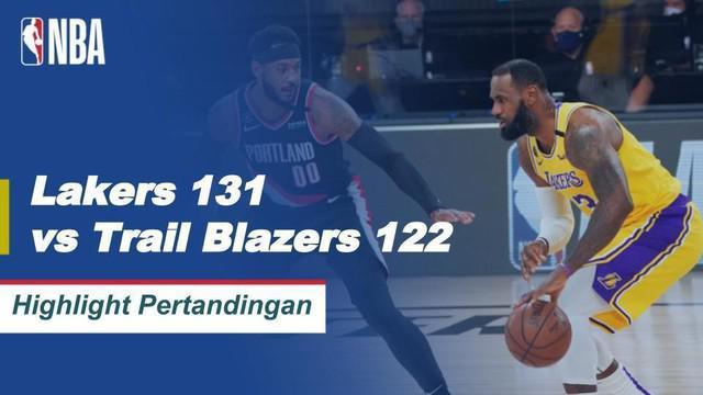 Berita video highlights NBA antara Los Angeles Lakers melawan Portland Trail Blazers pada gim kelima playoff wilayah barat yang berakhir dengan skor 131-122, Minggu (30/8/2020) pagi hari WIB.