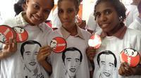 Relawan Jokowi di Papua. (Katharina Janur/Liputan6.com)