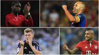 Berikut ini Paul Pogba dan lima gelandang terbaik versi konsol game PES 2016.