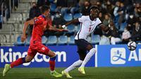 Timnas Inggris menang 5-0 atas Andorra pada laga ketujuh Grup I kualifikasi Piala Dunia 2022 di Estadi Nacional, Minggu (10/10/2021) dini hari WIB. (AFP/Lionel Bonaventure)