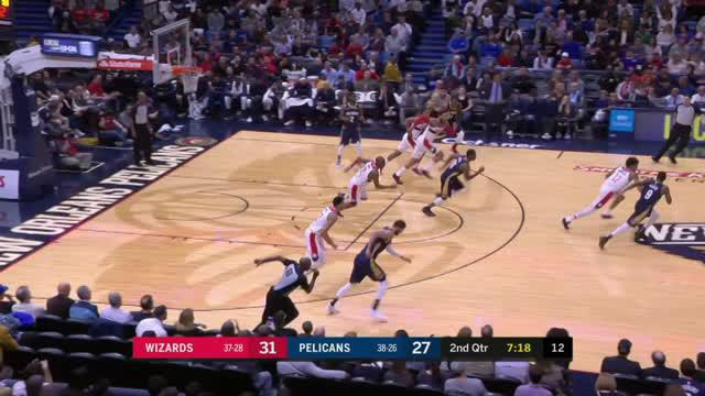 Berita video game recap NBA 2017-2018 antara Washington Wizards melawan New Orleans Pelicans dengan skor 116-97.