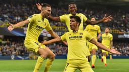 Villarreal menjadi satu-satunya klub Liga Spanyol yang belum terkalahkan hingga pekan ini. Namun, klub yang berjuluk The Yellow Submarine tersebut hanya mampu menempati urutan ke-11 klasmen sementara karena hanya mampu menyabet dua kali kemenangan dan lima kali seri. (AFP/Paul Ellis)