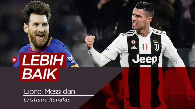 Berita video statistik yang membandingkan performa Cristiano Ronaldo dan Lionel Messi pada musim ini.