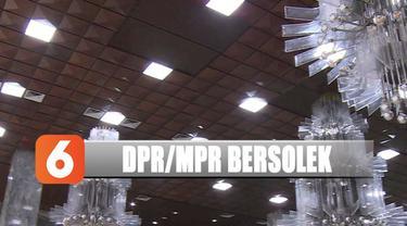 Jelang pelantikan, gedung DPR/MPR dipercantik dan polisi tak izinkan ada demonstrasi.