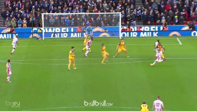 Dua gol indah tercipta pada laga antara Stoke City Vs Brighton Hove meski berakhir 1-1. This video is presented by Ballball.