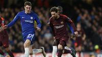 Manajer Chelsea, Antonio Conte, menilai Andreas Christensen, telah memainkan penampilan memukau di jantung pertahanan klub yang membuat para penyerang Barcelona frustrasi. (AFP/Ian Kington)