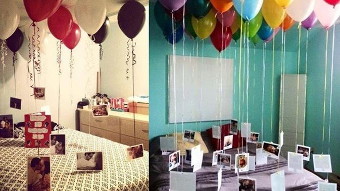 Dekorasi Kamar Super Romantis Dengan Memanfaatkan Balon Di