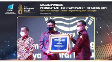 Tata Kelola Arsip Kementerian ESDM Raih Penghargaan dari ANRI