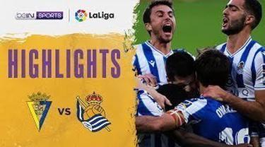 Berita video beragam aksi eks pemain Manchester United, Adnan Januzaj, dalam highlights kemenangan ketujuh Real Sociedad di Liga Spanyol 2020/2021 saat menghadapi Cadiz, Sabtu (22/11/2020) malam hari WIB.